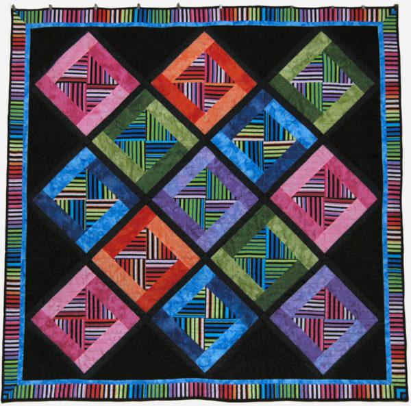 Black Rainbow Stripes by Cindy Thury Smith