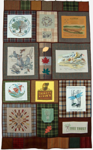 Wool Potholder Men's Quilt by Cindy Thury Smith